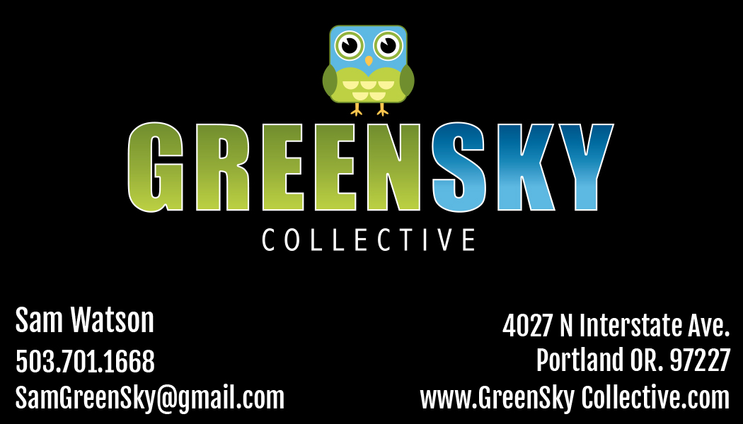 Green Sky Business Card