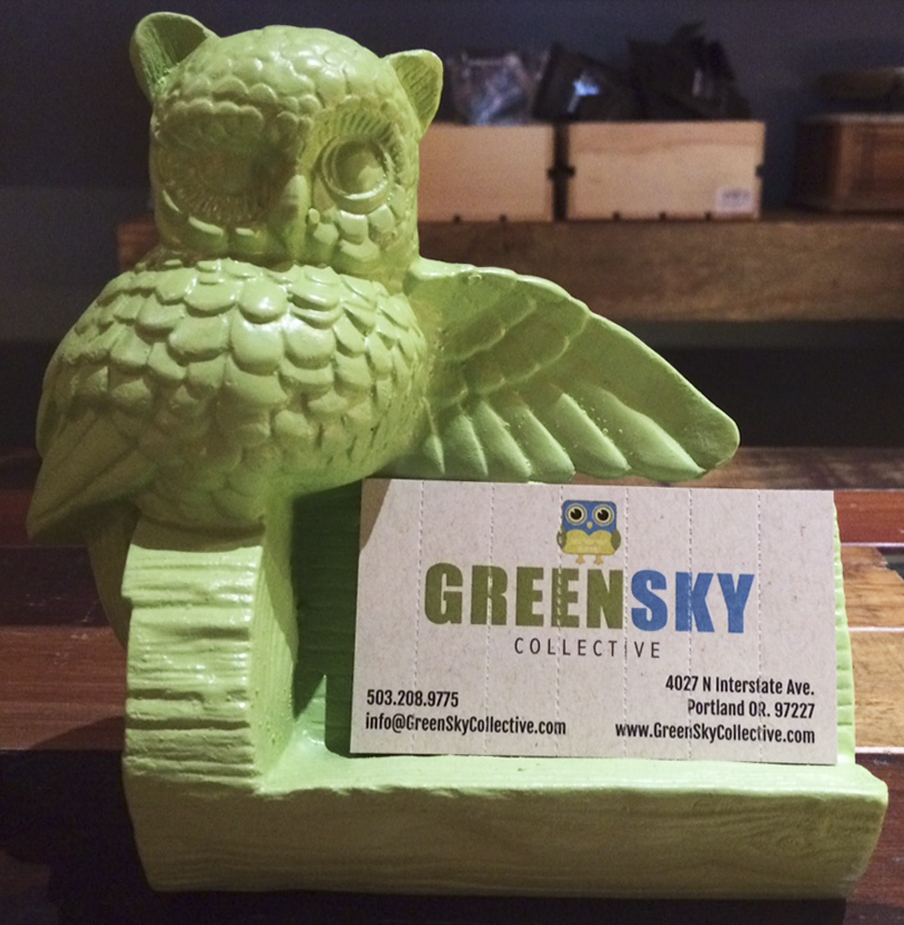 Green Sky Crutch Business Cards