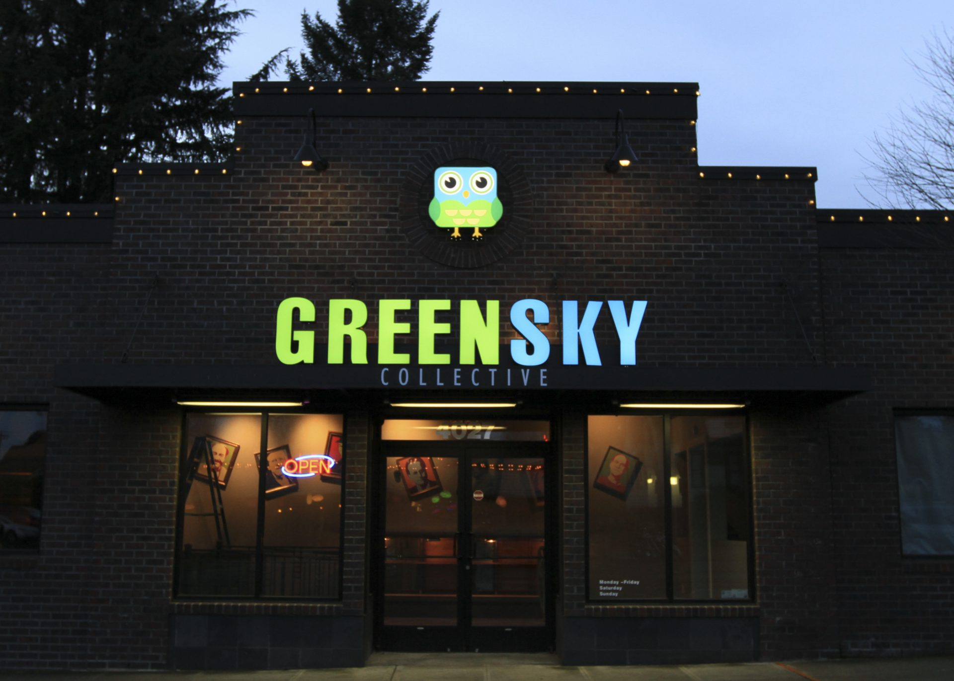 Green Sky Collective Sign