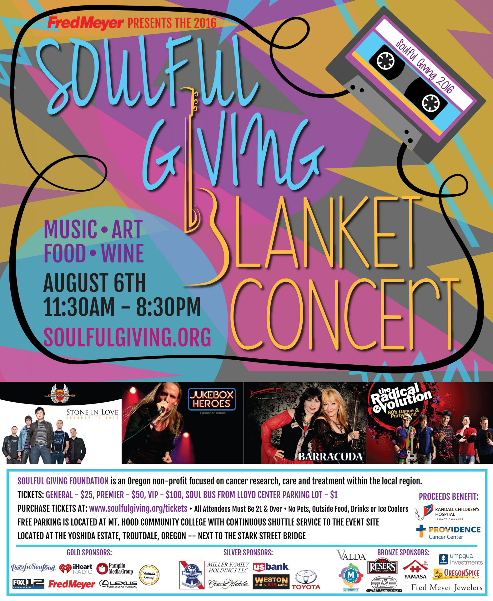 Soulful Giving Blanket Concert Poster 2016