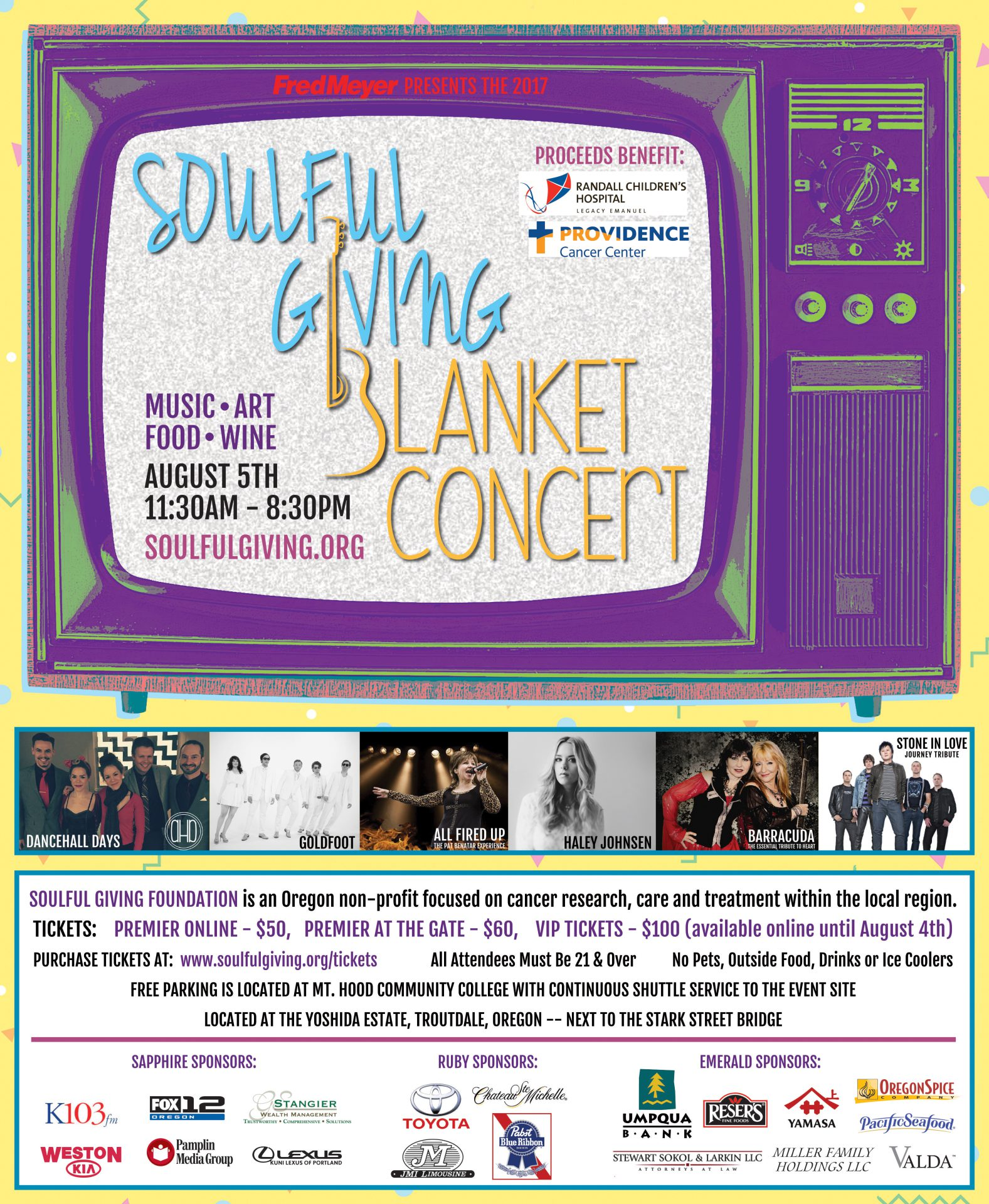 Soulful Giving Blanket Concert Poster 2017