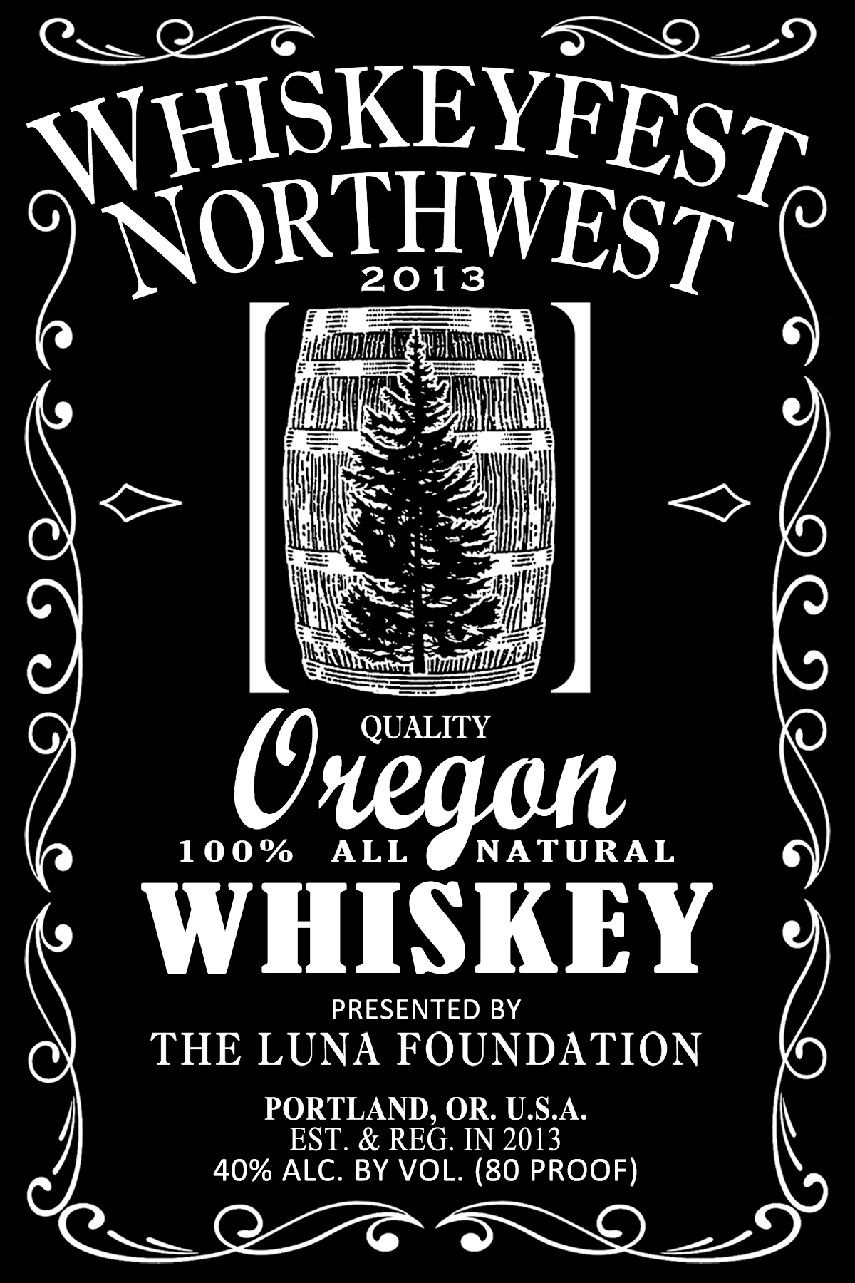 Whiskeyfest Northwest label